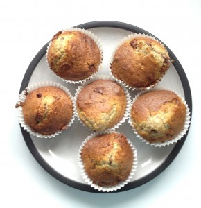 Banana and Chocolate Easter Muffins