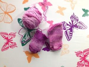 handspun baby socks