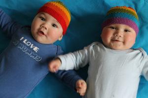 Equality Stripe Hat Twins